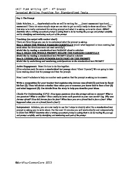 10 Day Writing UNIT Standardized Assessment Practice W 3.2 3.3 3.5