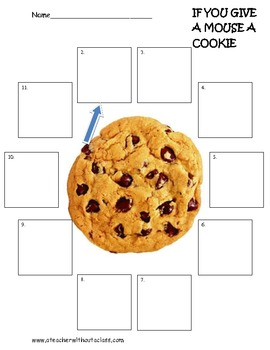 I You Give A Mouse A Cookie Sequencing Activity By A