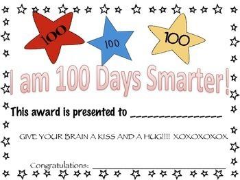 100th Day of School Freebie for Pre-K-1