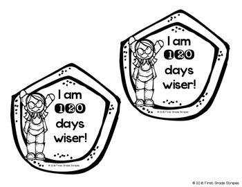 I am 120 Days Smarter! Badge, Cuff, and Hat/Crown