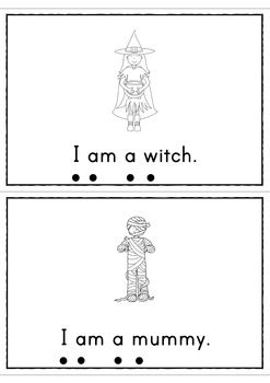 Halloween I Am A Ghost Easy Reader Patterned Sentences for Beginning Readers