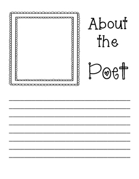 I am A Poet: Poetry Writing Pack
