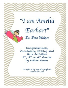 """""""I am Amelia"""" by Brad Meltzer - Vocabulary, Comprehension,"""