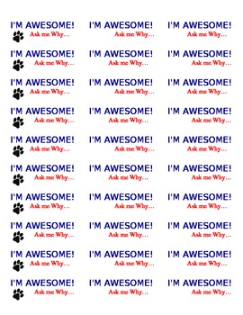 I am Awesome Stickers