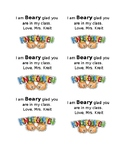 I am Beary glad you are in my class Kindergarten tags