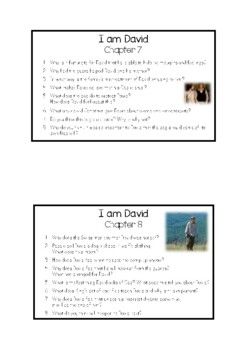 I am David - Chapter Questions