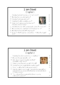 I am David - Chapter Questions