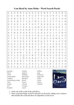 I am David - Word Search Puzzle