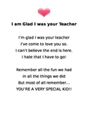 I am Glad I was your Teacher..