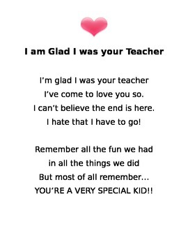 I am Glad I was your Teacher..