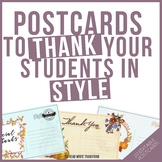 Your Teacher Is Thankful For You -Editable postcards for older students