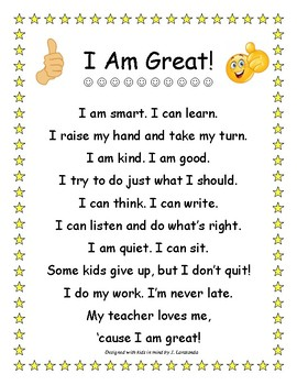 I am Great Poem