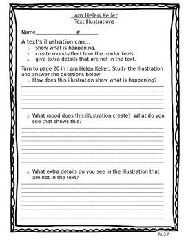 I am Helen Keller Text Illustrations RL.3.7