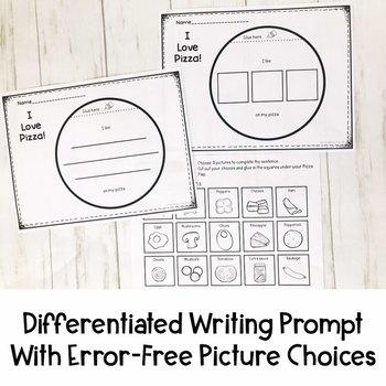 I am Helpful at Home Differentiated Writing Prompt   Special Education Resource
