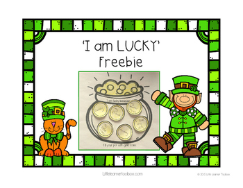 St Patrick's Day 'I am Lucky' Pot of Gold