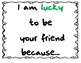 I am Lucky to be.... writing activity for March and/or St.
