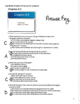 I am Malala: Chapters 6-9 Quiz