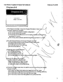 I am Malala: Chapters 6-9 Smart Response Clicker Quiz