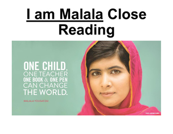 I am Malala Close Read