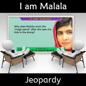 I am Malala Jeopardy Novel Study Review Jeopardy Game