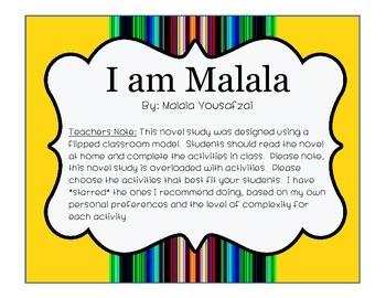 I am Malala Novel Study
