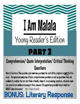 I am Malala - Part 2 Comprehension Questions