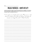 I am Malala Quote Analysis Handout