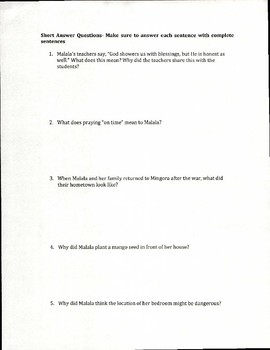 I am Malala Test Chapter 17-23 (Young Reader's Edition)
