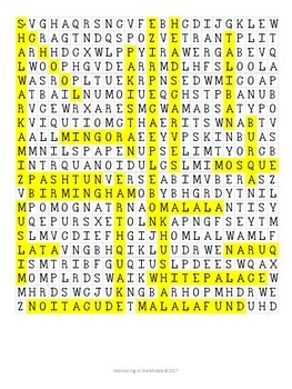 I am Malala (young reader's edition) - Word Search