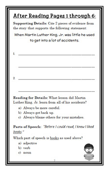 I am Martin Luther King, Jr. (Brad Meltzer) Book Study / Comprehension (22 pgs)