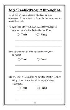 I am Martin Luther King, Jr. (Brad Meltzer) Book Study / Comprehension (22 pgs)