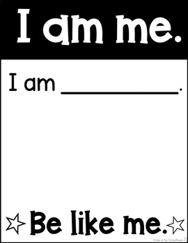 I am Me Posters for Back to School