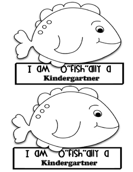 "I am O ""fish"" ally a kindergartner headband"