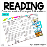 I am Reading! #3 Fiction & Nonfiction Reading Comprehension Passages & Questions