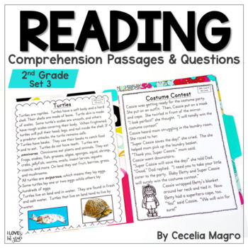 I am Reading #3  Reading Comprehension Passages & Questions Second Grade