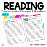 I am Reading! #4 Fiction & Nonfiction Reading Comprehension Passages & Questions