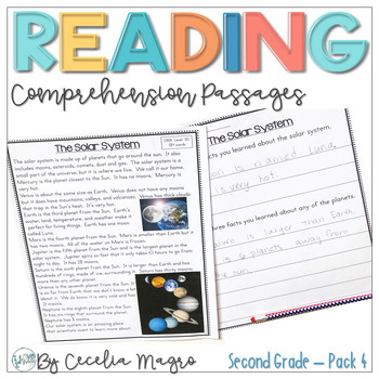 I am Reading #4  Fiction and Non Fiction Texts - Second Grade