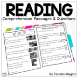 Reading Comprehension Passages and Questions 1st Grade Distance Learning