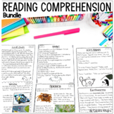 Reading Comprehension Passages and Questions 1st Grade BUNDLE Distance Learning
