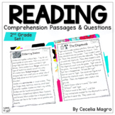 Reading Comprehension Passages and Questions  Second Grade Distance Learning