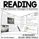 I am Reading! 2nd Grade BUNDLE Reading Comprehension Passages & Questions
