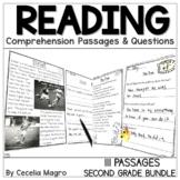 Reading Comprehension Passages & Questions Second Grade BUNDLE