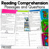 Reading Comprehension Passages and Questions Freebie DIGITAL AND PRINTABLE