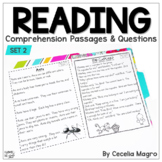 Reading Comprehension Passages & Questions 1st Grade Pack Two