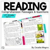 Reading Comprehension Passages and Questions 2nd Grade   Set 2 Distance Learning