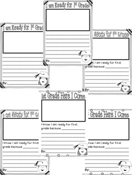 I am Ready for First Grade! - Writing prompts for students going into 1st Grade