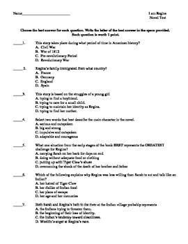 I am Regina by Sally M. Keehn (Novel Test)
