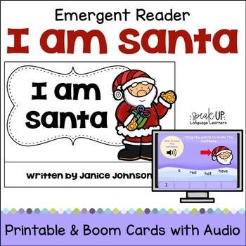 I am Santa Christmas Reader & Vocabulary Work + BOOM™ Version w Audio