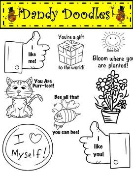 I am Special Clip Art by Dandy Doodles