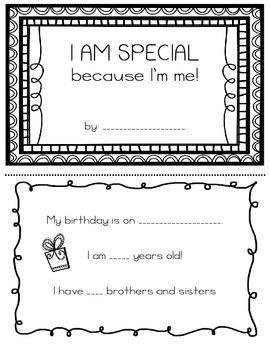 I am Special, because I'm Me